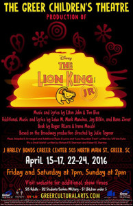 Greer Children's Theatre Stages 'The Lion King Jr.'