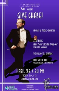 Fountain Inn Symphony 'Gives Chase' in April 23 Concert @ Younts Center for Performing Arts