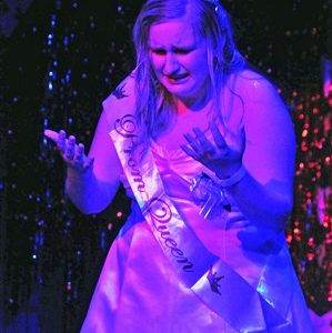 "Rachel Andrews stars as Carrie White in ""Carrie:The Musical."""