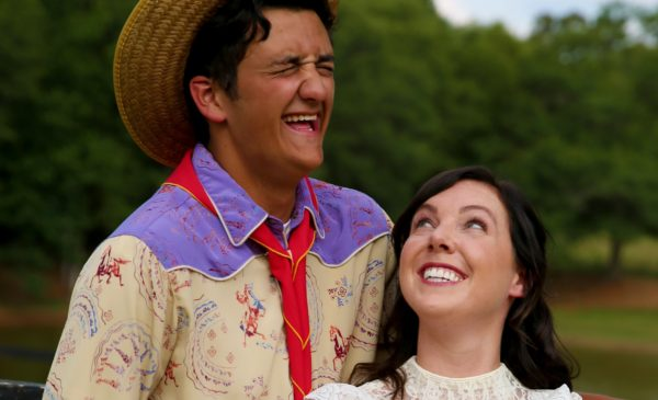 "Drake King as Will and Carly Frates as Ado in ""Oklahoma!"" Photo by Escobar Photography"