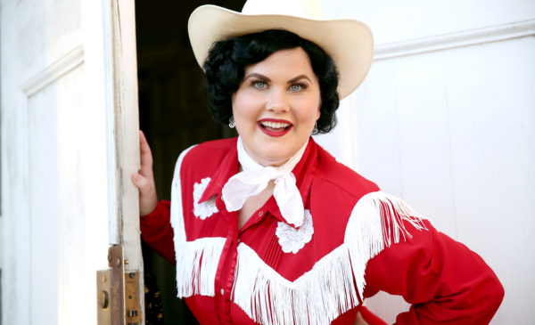 "Katie Rockwell in ""Aways...Patsy Cline."" Photo by Escobar Photograghy."