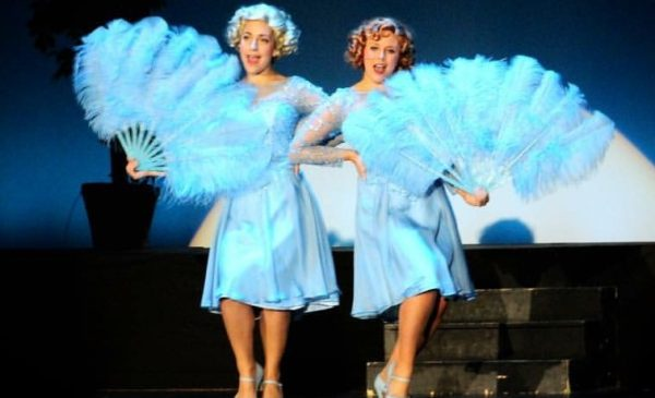 "Rebecca Kelley and Bailey Tyler in ""White Christmas."" Photo courtesy of Anderson University."