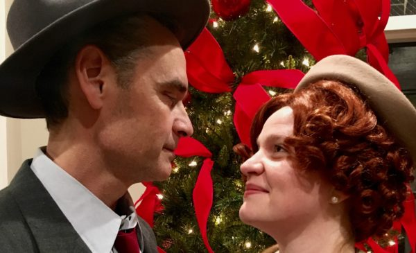 "Dan Wilke and Mackensie Pelicano are George and Mary Bailey in FIRE Theatre Company's ""It's A Wonderful Life."""