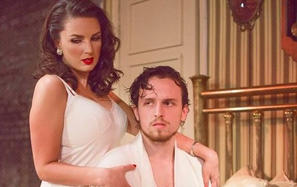 Maggie (Meghan Cole) And Brick (Joshua Barnes) In U201cCat On A Hot Tin Roofu201d  At The Market Theatre Company