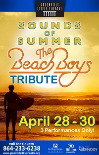 The Beach Boys Tribute Band Sounds of Summer at Greenville Little Theatre @ Greenville Little Theatre