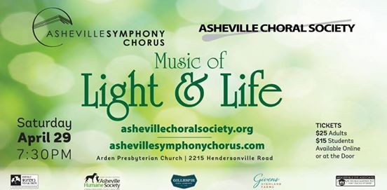 Asheville Symphony Chorus, Asheville Choral Society Unite for 'Music of Light and Life'