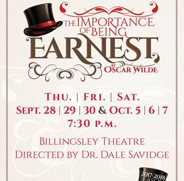 North Greenville University Presents 'The Importance of Being Earnest' @ North Greenville University Billingsley Theatre