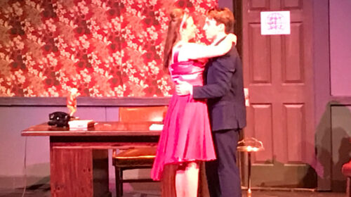 REVIEW: Shoestring Players Succeed in Boisterous Office Musical